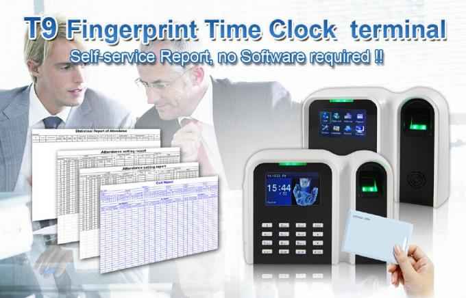 Simple TFT Screen Fingerprint Time Attendance System Built - In USB Port