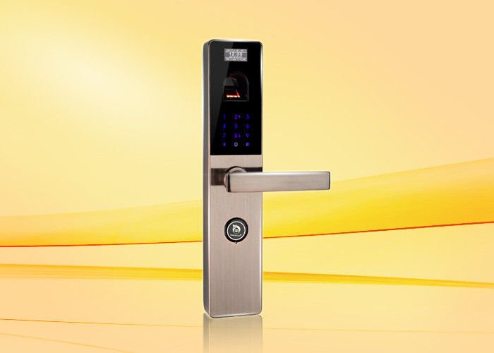 Touch Keypad Fingerprint Door Lock With Reversible Handle 10 Groups Transaction