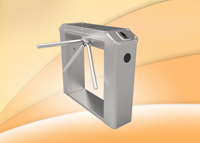 Semi - Automatic Stainless Steel Tripod Turnstiles With Controller / RFID Reader