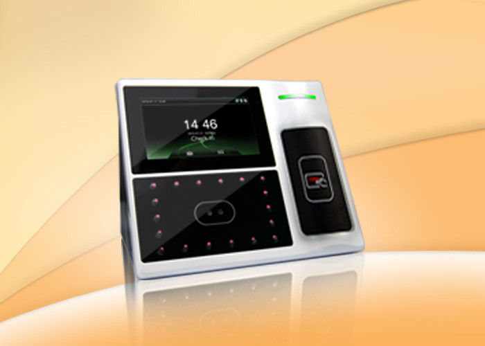 4.3 Inch TFT Touch Screen Facial Recognition Time Attendance System Support Scheduled Bell , Self Inquiry