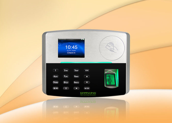 3.7V 4000mAh Fingerprint Biometric RFID Time Clock System POE Function