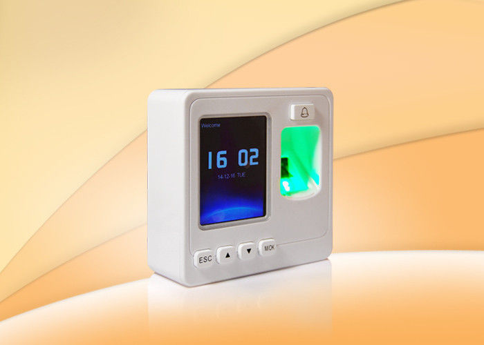 White Fingerprint Access Control System With USB Flash Drive For Offline Data Management