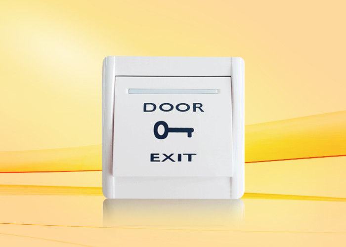 Push Button For Access Control With NO / NC / COM For Access Control System , Plastic Fireproof Material