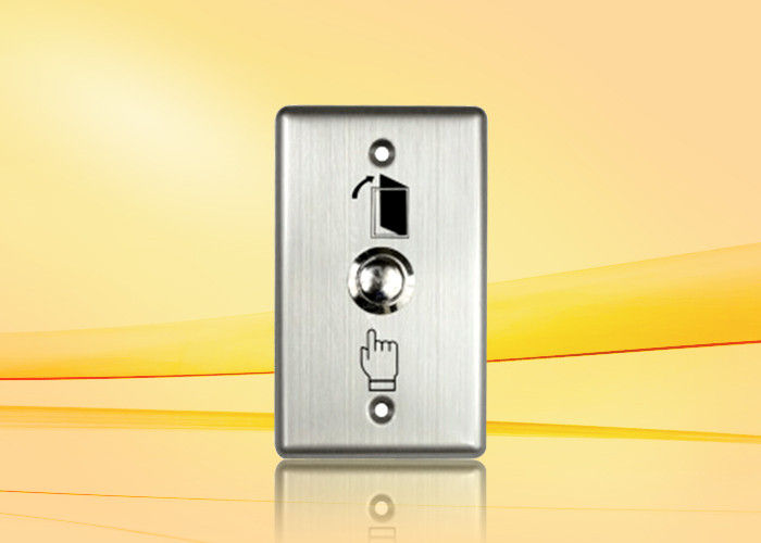 Nickel - Plated Copper Push Button For Access Control , weatherproof push to exit button