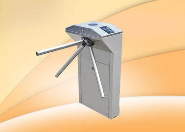 Fingerprint RFID Steel Drop Arm Tripod Turnstiles For Emergency Purpose