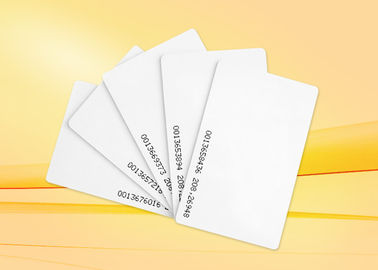 Security  Thick PVC  ID Card ,  Blank employee proximity card  for Access Control
