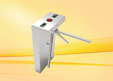 Stainless steel Tripod Turnstile , waist height turnstile for pedestrian access control