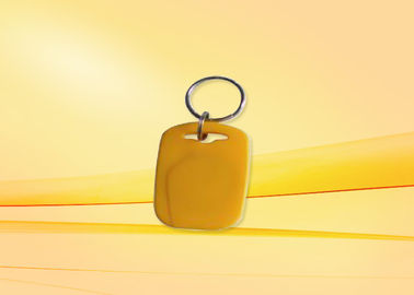 Mini Yellow Proximity Card Plastic 125khz rfid tag / Keyfobs For Access Control